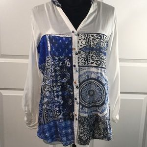 Desigual Tops - Desigual Botton Down Blouse